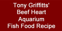 Tony Griffitts' Beef Heart Aquarium Fish Food Recipe